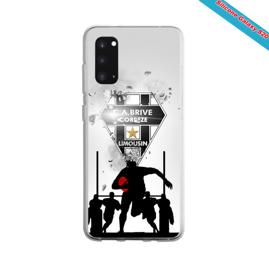 Coque silicone Huawei Mate 20 PRO Fan de Rugby Montpellier Graffiti