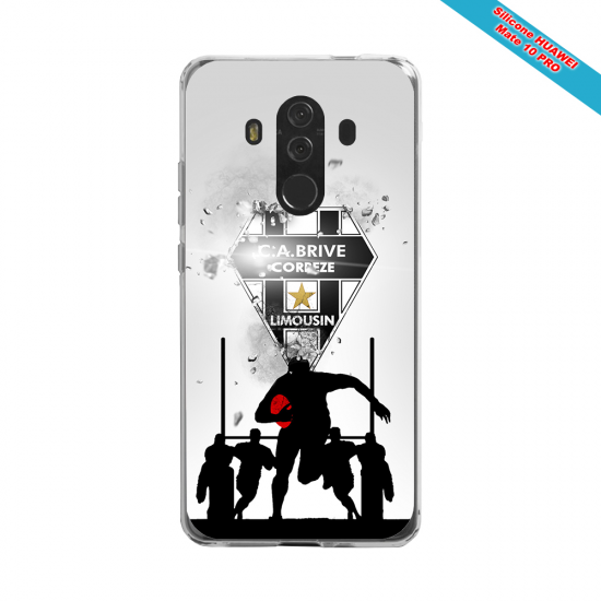 Coque silicone Huawei P20 PLUS Fan de Rugby Montpellier Graffiti