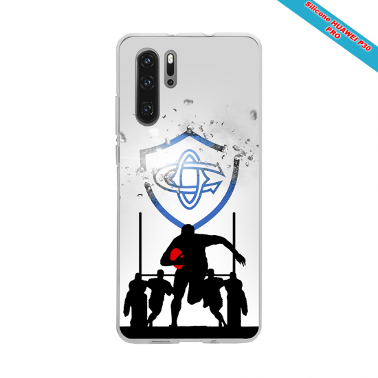 Coque silicone Iphone 11 Pro Max Fan de Rugby Pau Graffiti