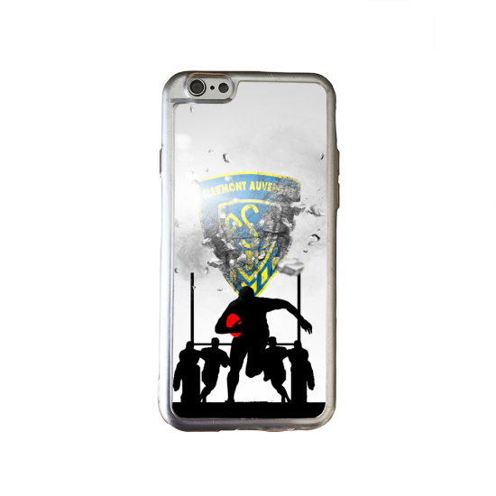 Coque silicone Galaxy A10 Fan de Rugby Pau Graffiti