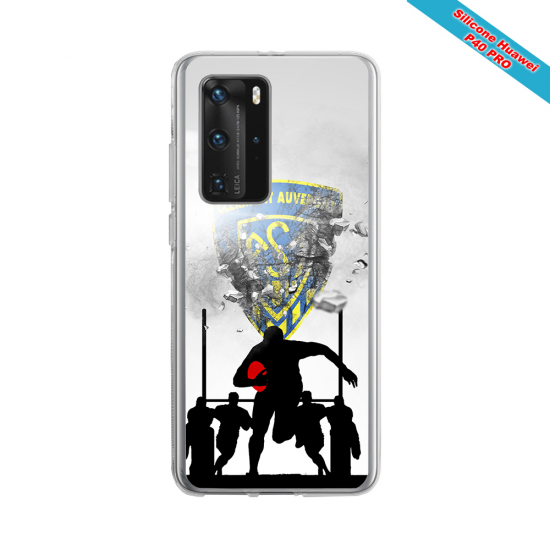 Coque silicone Galaxy A10 Fan de Rugby Racing 92 Graffiti