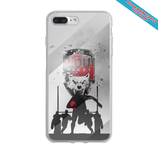 Coque silicone Galaxy A50 Fan de Rugby Racing 92 Graffiti