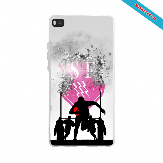Coque silicone Iphone 11 Pro Max Fan de Rugby Toulouse Graffiti
