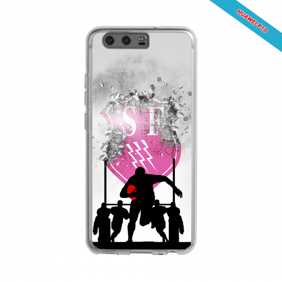 Coque silicone Iphone 12 Fan de Rugby Toulouse Graffiti