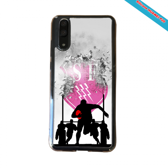 Coque silicone Galaxy A10 Fan de Rugby Toulouse Graffiti