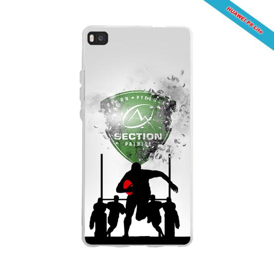 Coque silicone Iphone 12 Fan de Rugby Agen Géometrics