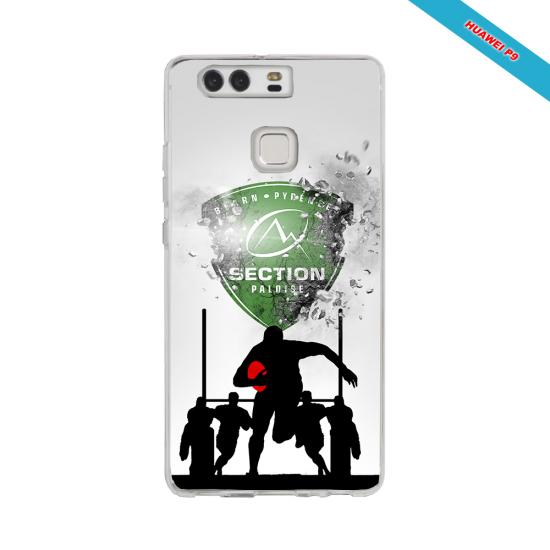 Coque silicone Iphone 12 PRO MAX Fan de Rugby Agen Géometrics