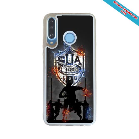 Coque silicone Galaxy A50 Fan de Rugby Agen Géometrics