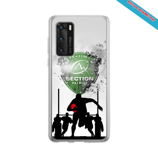 Coque silicone Galaxy A70 Fan de Rugby Agen Géometrics