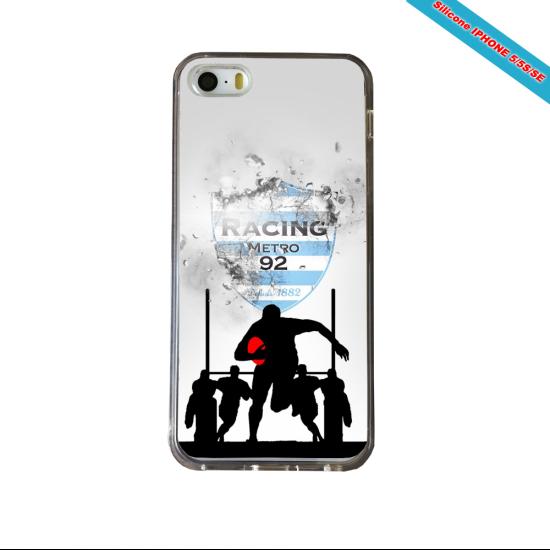 Coque silicone Galaxy J3 2018 Fan de Rugby Agen Géometrics