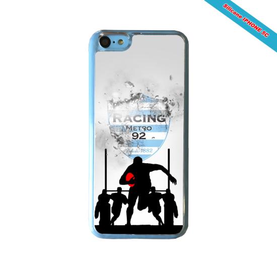 Coque silicone Galaxy J4 2018 Fan de Rugby Agen Géometrics
