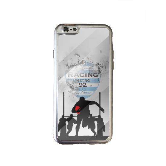 Coque silicone Galaxy J4 PLUS Fan de Rugby Agen Géometrics