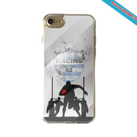 Coque silicone Galaxy J6 PLUS Fan de Rugby Agen Géometrics