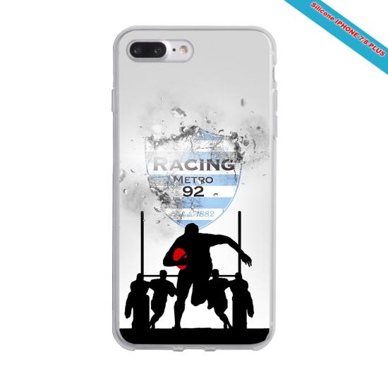 Coque silicone Galaxy J7 2016 Fan de Rugby Agen Géometrics
