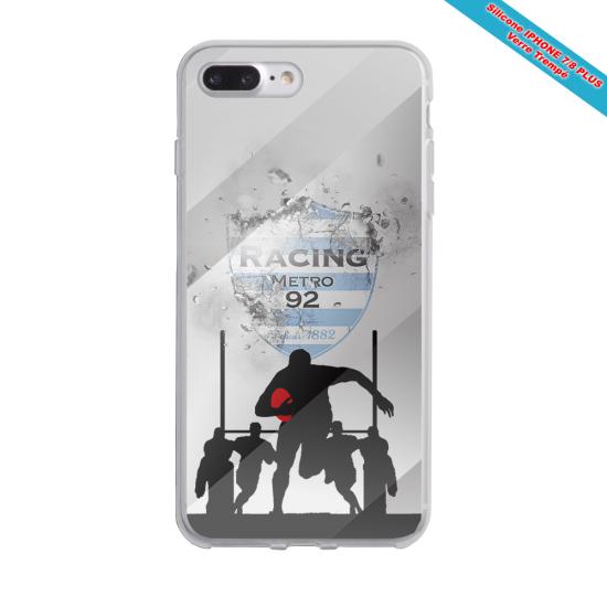 Coque silicone Galaxy J7 2017 Fan de Rugby Agen Géometrics