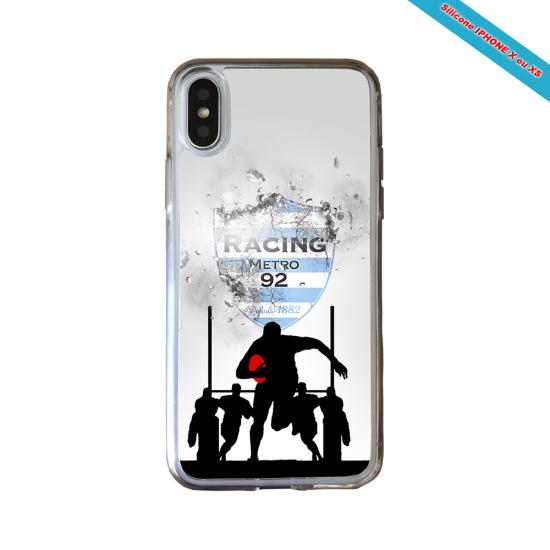 Coque silicone Galaxy J7 2018 Fan de Rugby Agen Géometrics