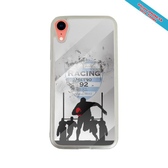 Coque silicone Galaxy M11 Fan de Rugby Agen Géometrics