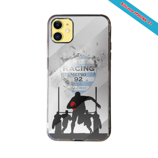 Coque Silicone Galaxy S6 EDGE Fan de Rugby Agen Géometrics