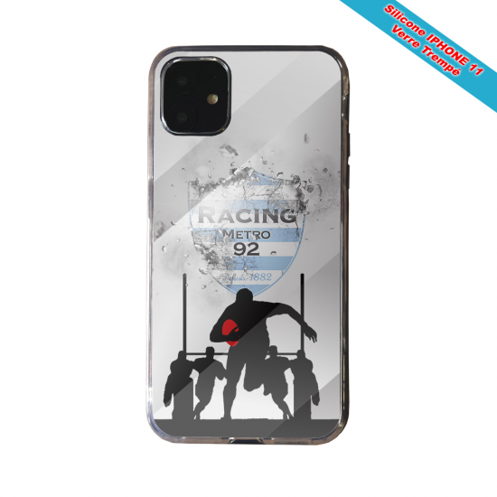 Coque Silicone Galaxy S7 EDGE Fan de Rugby Agen Géometrics