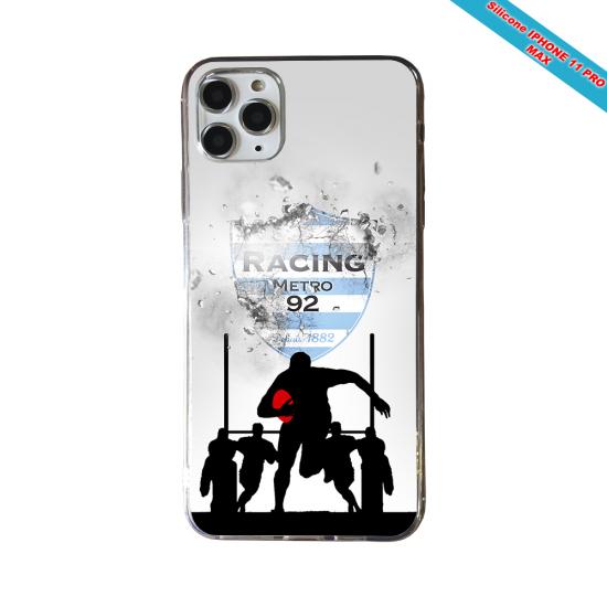 Coque Silicone Galaxy S8 Fan de Rugby Agen Géometrics
