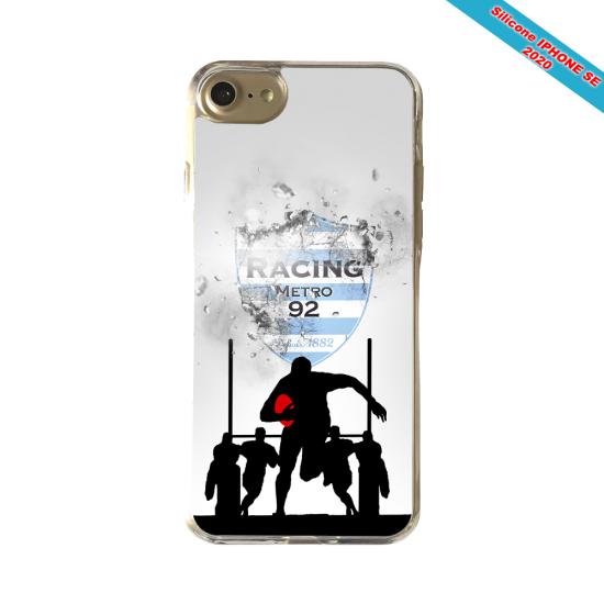 Coque Silicone Galaxy S8 PLUS Fan de Rugby Agen Géometrics