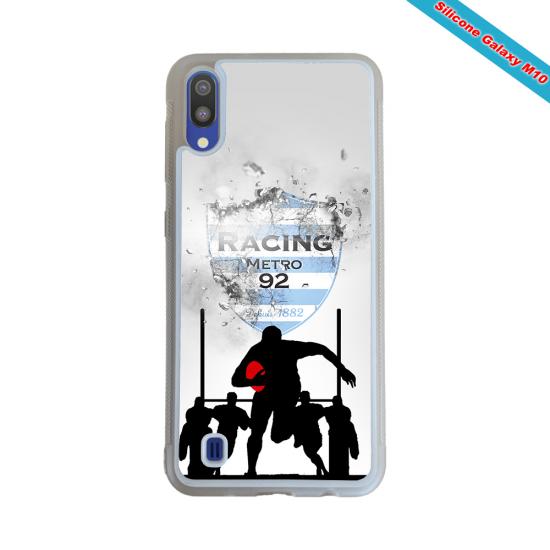 Coque silicone Huawei P9 Lite 2016 Fan de Rugby Agen Géometrics