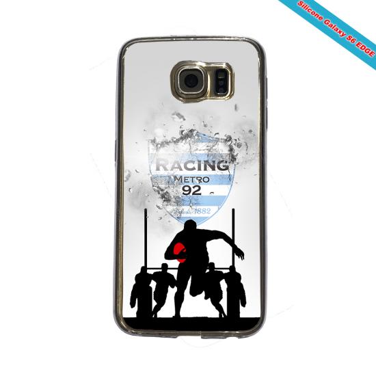 Coque silicone Huawei P20 LITE Fan de Rugby Agen Géometrics