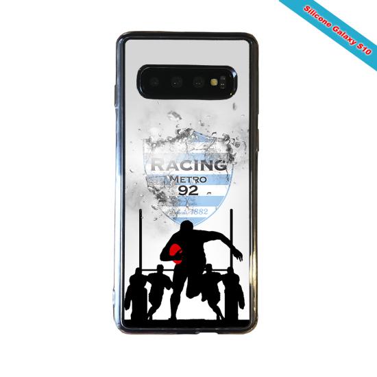 Coque silicone Huawei P40 Lite E Fan de Rugby Agen Géometrics