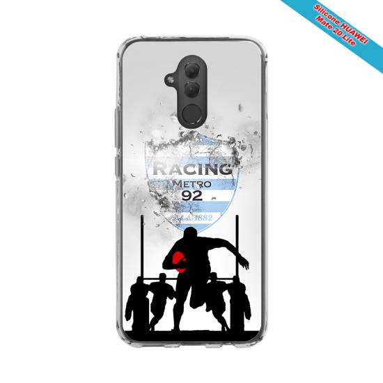Coque silicone Iphone 12 Mini Fan de Rugby Bayonne Géometrics