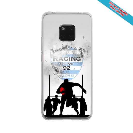 Coque silicone Iphone 12 Fan de Rugby Bayonne Géometrics