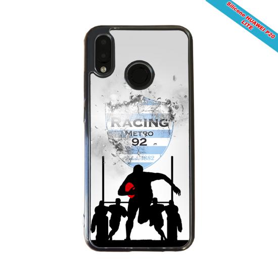 Coque silicone Galaxy A41 Fan de Rugby Bayonne Géometrics