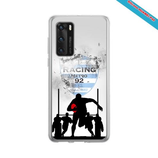 Coque silicone Galaxy J3 2018 Fan de Rugby Bayonne Géometrics