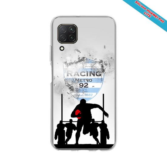 Coque silicone Galaxy J4 2018 Fan de Rugby Bayonne Géometrics