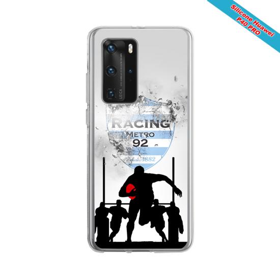 Coque silicone Galaxy J4 PLUS Fan de Rugby Bayonne Géometrics