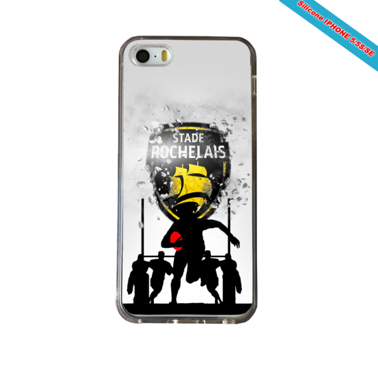 Coque silicone Galaxy J5 2016 Fan de Rugby Bayonne Géometrics