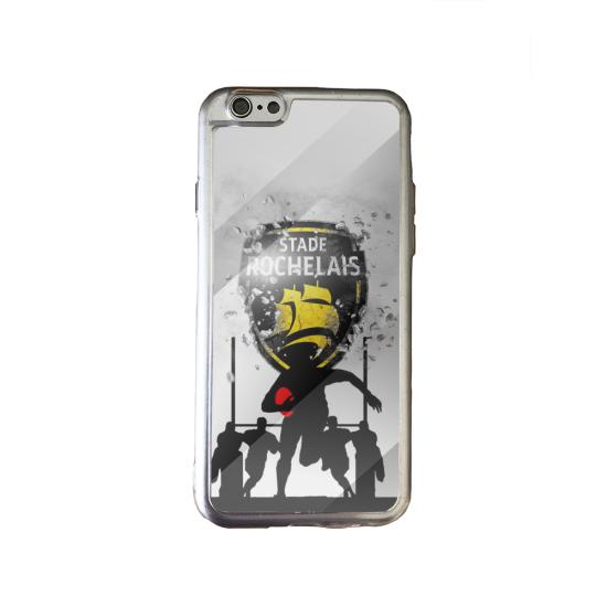 Coque silicone Galaxy J6 PLUS Fan de Rugby Bayonne Géometrics