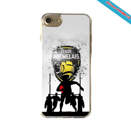 Coque silicone Galaxy J7 2018 Fan de Rugby Bayonne Géometrics