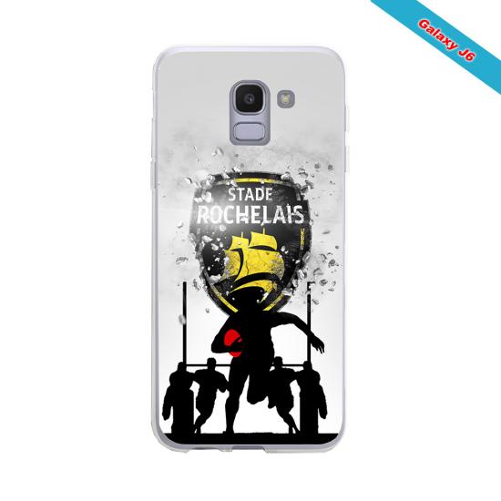 Coque silicone Huawei P8 lite 2017 Fan de Rugby Bayonne Géometrics