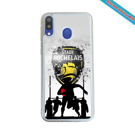 Coque silicone Huawei P20 LITE 2019 Fan de Rugby Bayonne Géometrics