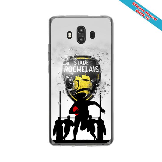 Coque silicone Iphone 12 Mini Fan de Rugby Bordeaux Géometrics