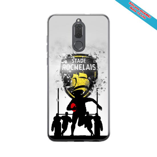 Coque silicone Iphone 12 Fan de Rugby Bordeaux Géometrics