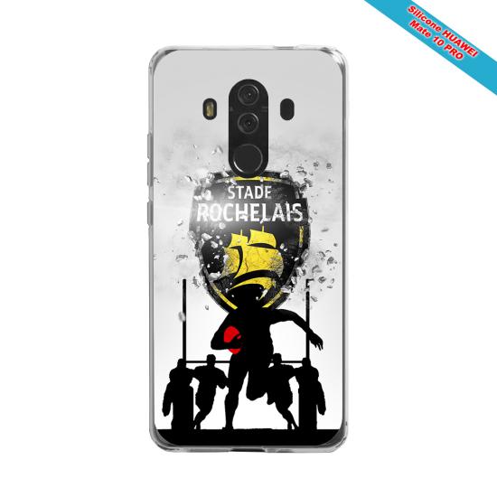Coque silicone Iphone 12 PRO Fan de Rugby Bordeaux Géometrics
