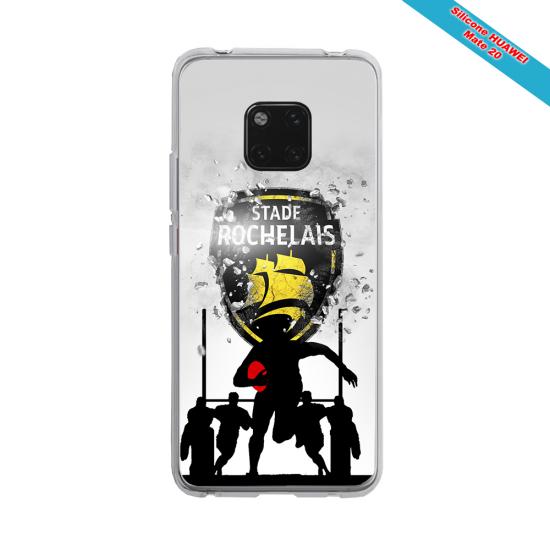 Coque silicone Iphone 12 PRO MAX Fan de Rugby Bordeaux Géometrics