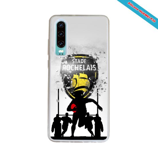 Coque silicone Galaxy J3 2018 Fan de Rugby Bordeaux Géometrics