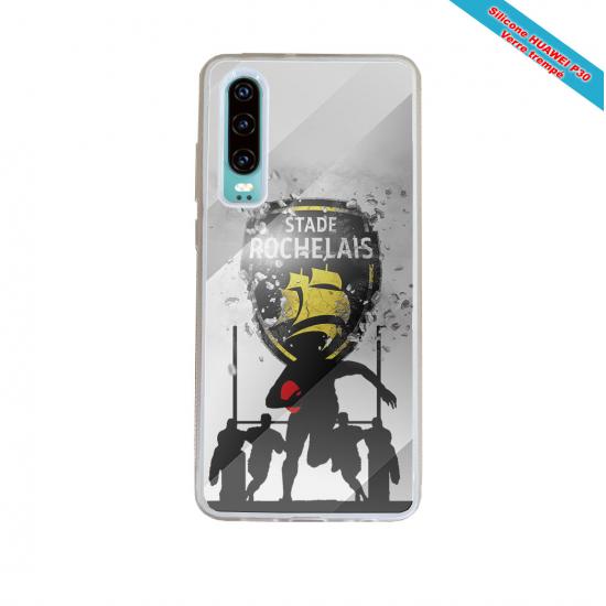 Coque silicone Galaxy J4 2018 Fan de Rugby Bordeaux Géometrics