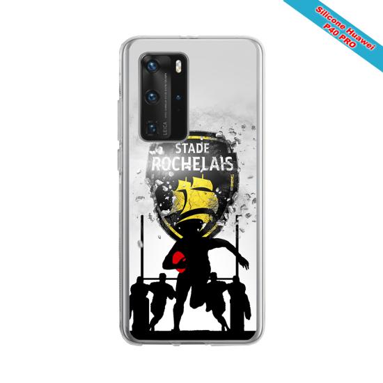 Coque silicone Galaxy J6 PLUS Fan de Rugby Bordeaux Géometrics