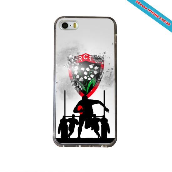 Coque silicone Galaxy J7 2016 Fan de Rugby Bordeaux Géometrics