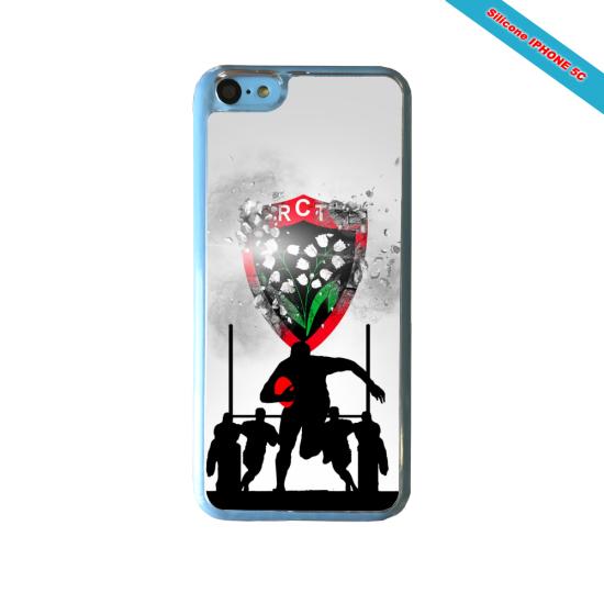 Coque silicone Galaxy J7 2017 Fan de Rugby Bordeaux Géometrics