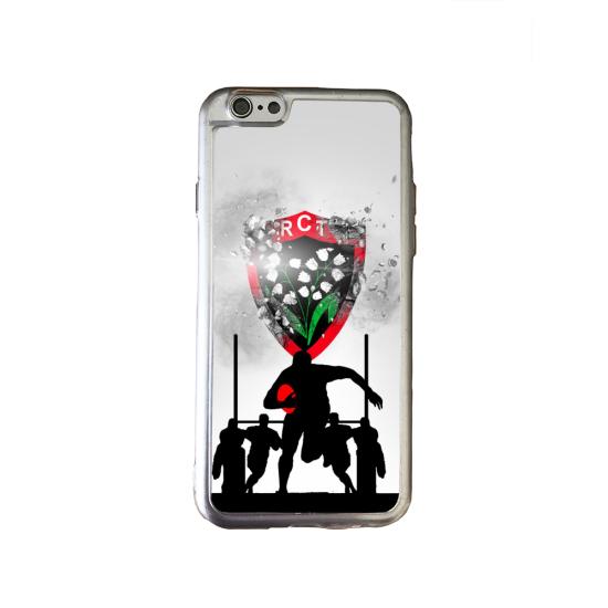 Coque silicone Galaxy J7 2018 Fan de Rugby Bordeaux Géometrics
