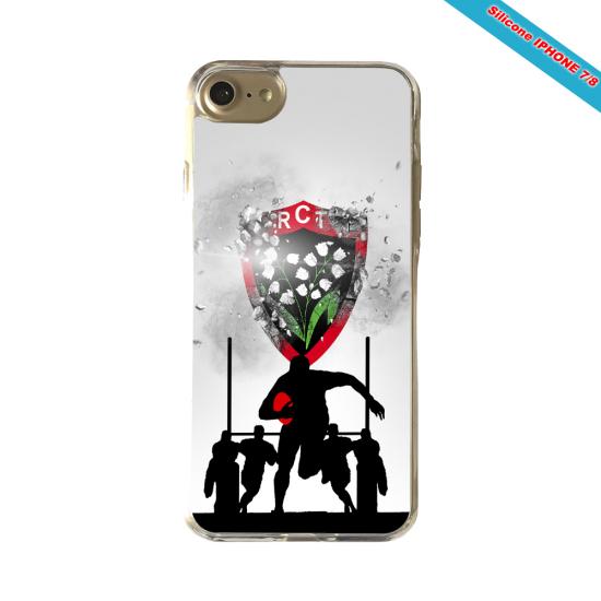 Coque silicone Galaxy M20 Fan de Rugby Bordeaux Géometrics